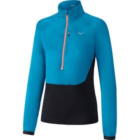 Mizuno Static BT - Camiseta manga larga running Mujer - azul/negro